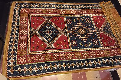 HAND KNOTTED ORIENTAL MIDDLE EASTERN TURKISH WOOL RUG w/Bird Detail 20TH CENTURY