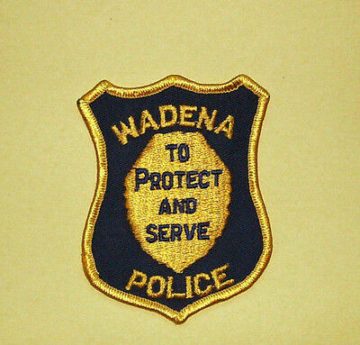 Vintage Wadena PolicePatch - To Protect and Serve - OBSOLETE??