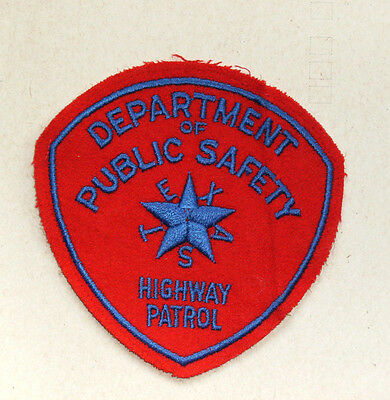 Vintage Department of Public Safety Highway Patrol Texas Patch - OBSOLETE??