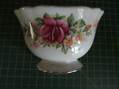 Old Foley James Kent oval sugar bowl 9cm x 7cm Roses Staffordshire England