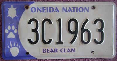 Oneida Nation Tribal License Number Plate #3C1963