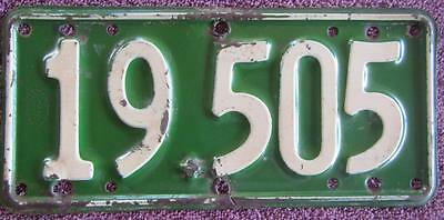 1938-39 Nz Motorcycle License Number Plate #19-505