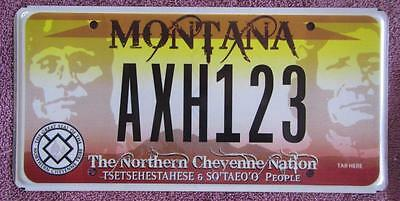 Us Tribal Nation License Number Plate #axh123