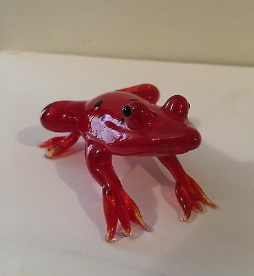 Art Glass Frog Hand Made/blown - Small