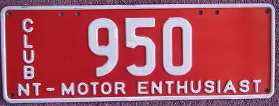 Motor Enthusiast Nt License Number Plate # 950