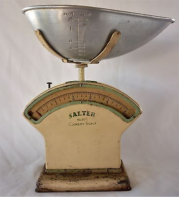 Art Deco Cream And Green SALTER Kitchen Scales Original Pan