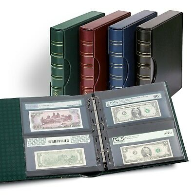 CURRENCY ALBUM - PMG + PCGS Graded Currency Album + Slipcase - 10 Pages - BLUE