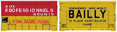 "Set de 2 containers ""Aux Professionnels & Bailly"" - REE - Echelle 1/87 (HO)"