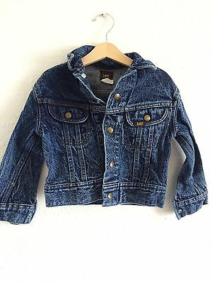 Vintage Kids 90s Lee Grunge Denim Unisex Jacket 3 4 5 Y