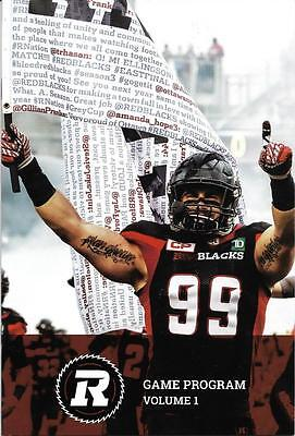 RedBlacks - Stampeders Argonauts Alouettes 2017 Official CFL Football Program