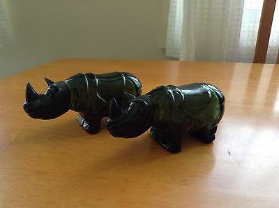 Avon Collectables .. Green Glass --- Rhino's
