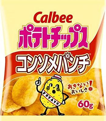 Calbee Japanese Snack POTATO CHIPS Consomme taste 60g x 12 bag From Japan