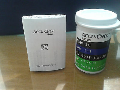 Accu Chek Aviva Test Strips 50***FREE  RECORDED DELIVERY*** 30-06-2018 EXP.DATE