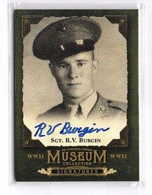 Sgt. R.V. Burgin 2016 Goodwin Champions,Museum Collection,WW II, Signatures !!