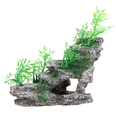 Aquarium Rockery Artifical Mountain Tree Cave Stone Bridge Fish Tank Decor