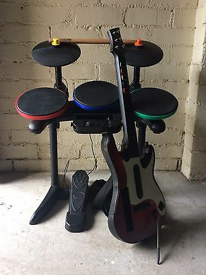 Guitar Hero Guitar And Drums For wii With 4 Games