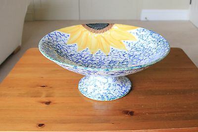 """Poole Pottery 11"""" Compote / Footed Serving Dish in Vincent Design"""