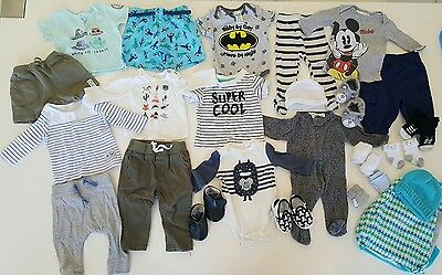 Baby Boys Bulk Mixed Clothing Size 000 Cotton On Tops Rompers Pants New Shoes