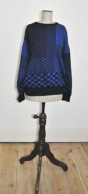 Vintage 80's Mens ROGER DAVID Geometric Jumper