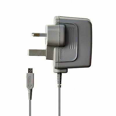 Used Official Nintendo Wall Charger for DSi XL, 2DS, 3DS 3-Pin AC Adapter