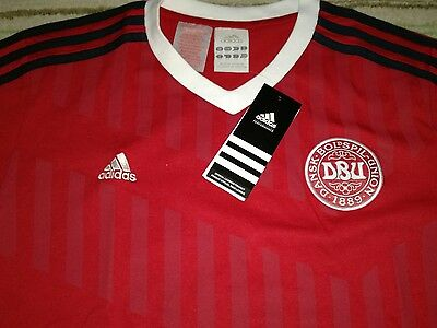 Denmark football T shirt boys age 14 years adidas make brand new unopened