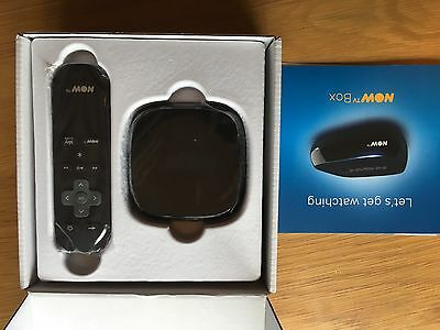NOW TV Box Remote & Power Supply Stream Sky Iplayer 4OD BRAND NEW IN BOX BLACK