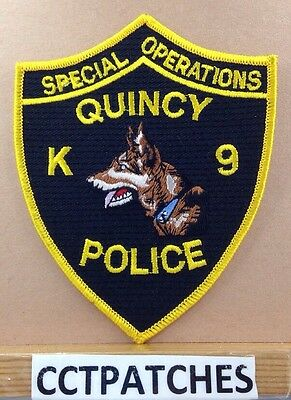 Quincy, Massachusetts K-9 Special Operations Police Shoulder Patch Ma