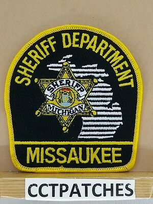Missaukee County, Michigan Sheriff (Police) Shoulder Patch Mi