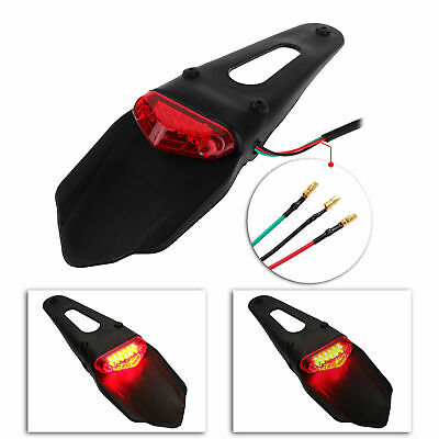 Universal Brake Red LED Tail Light Taillight Dirt Bike Off Road Motorcycle AU