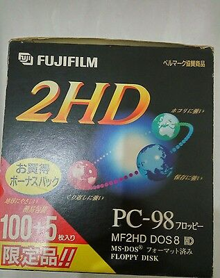 "FUJI 3.5"" 1.44MB 2HD 100pcs-Pack Floppy Diskettes"