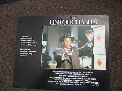 THE UNTOUCHABLES Original 2007 Film Lobby Card Paramount Kevin Costner 14X11