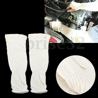 """Pair Mechanic Sleeves Knit Elbow 13"""" Welding Layer Protection Heat Cut Resistant"""