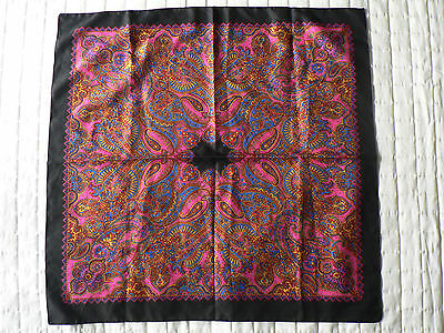 Vintage Womens Scarf - Amazing Colours & Pattern - As New Condition