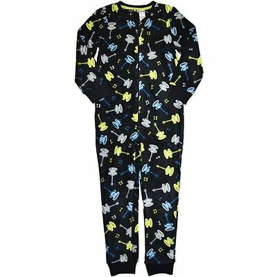 Kids Boys Pyjamas Bodysuit Sleepwear Fleece Winter Size 8,10,12,14 Brand New!!
