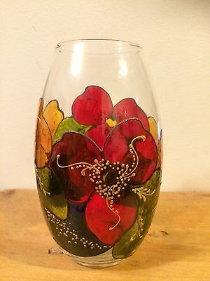 Hand Painted 'Colour Of Persia' Glass Vase