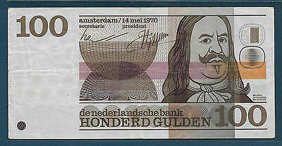 Netherlands 100 Gulden, 1970, P 93, VF