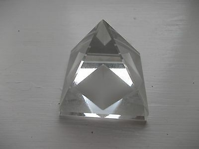 Glass (not crystal) pyramid