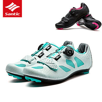 Santic Women Pro Road Cycling Shoes Auto-locking Lace-up Athletic Bicycle Shoes