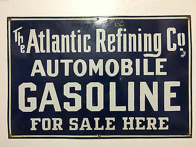 Vintage Atlantic Refining Co. Porcelain Enamel Sign.