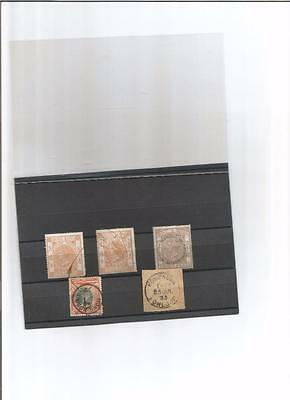 Hong Kong  Queen Victoria fiscals or duty stamps & postmarks