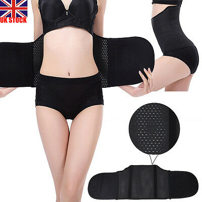 UK Breathable Waist Tummy Girdle Belt Sport Body Shaper Trainer Control Corset