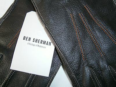 BEN SHERMAN LEATHER GLOVES, SMART STYLE, new with tag.