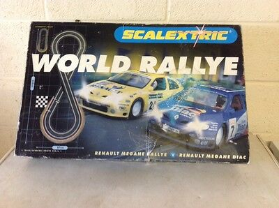 Scalextric World Rally Boxed Set Complete And Collectors Item