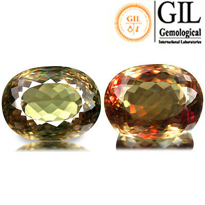 34.19ct FREE GIL CERTIFICATE!!! Huge Stunning fire Spark Color Change Diaspore
