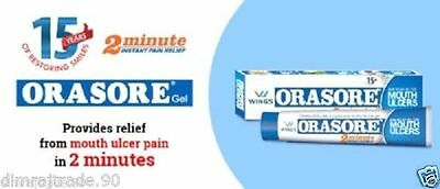 2X Wings ORASORE GEL Provides Relief from Mouth ulcer in 2 min10 gm