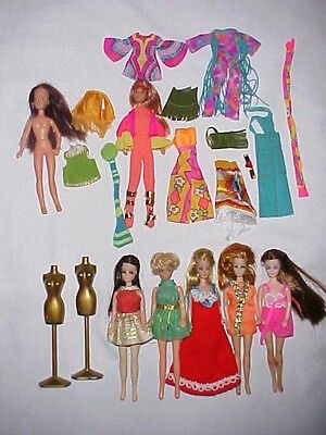 Vintage Topper Pippa Dawn Mattel Rock Flowers Lesney Suky Dolls & Clothes Lot