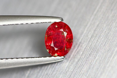 0.570 Ct NATURAL RICH SPARKLING ORANGISH RED BUR-MESE UNHEATED RARE SPINEL GEM!!