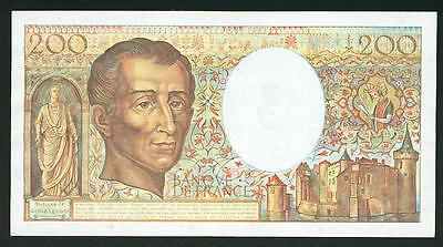 France billet de 200  FRS montesquieu 1989