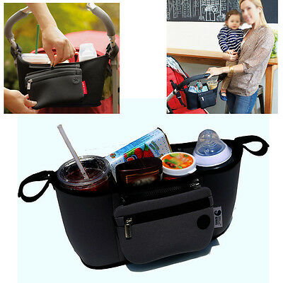 UK Baby Changing Pram Stroller Buggy Storage Pushchair Bag Bottle Cup Organizer