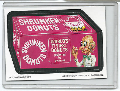 Lot 165: Wacky Packages Magnet #4 SHRUNKEN 2006 ANS3 Series 3 FREE SHIP CDA